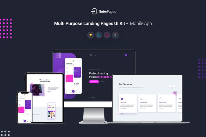 Thumbnail for EnterPages - Multi Purpose Landing Pages UI Kit