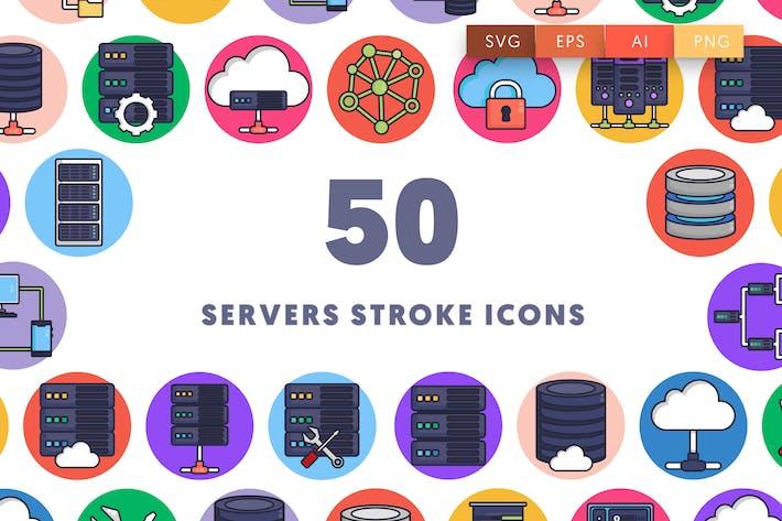 50 Server Schlaganfall-Symb