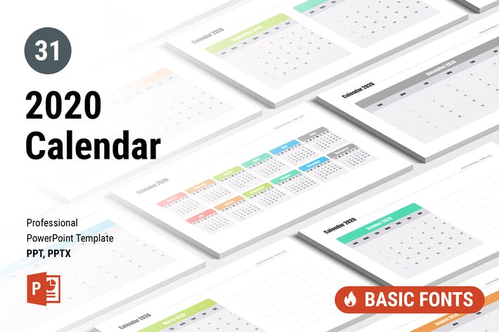 Cover Image For Calendar 2020 for PowerPoint
