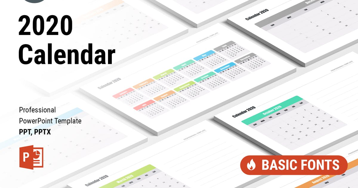 Download Calendar 2020 for PowerPoint by Site2max