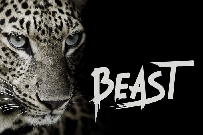 Thumbnail for Beast - Brush Font