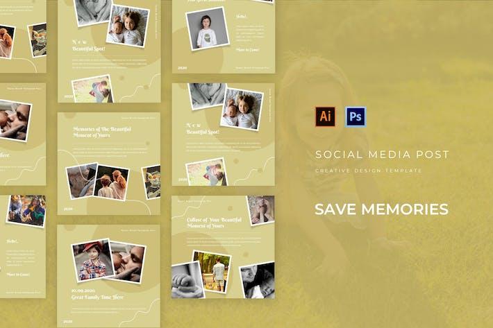 Thumbnail for Сохранить воспоминания Пост в социальных сетях