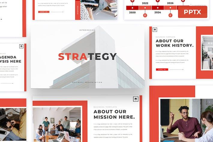 Стратегия - Шаблон презентации Powerpoint