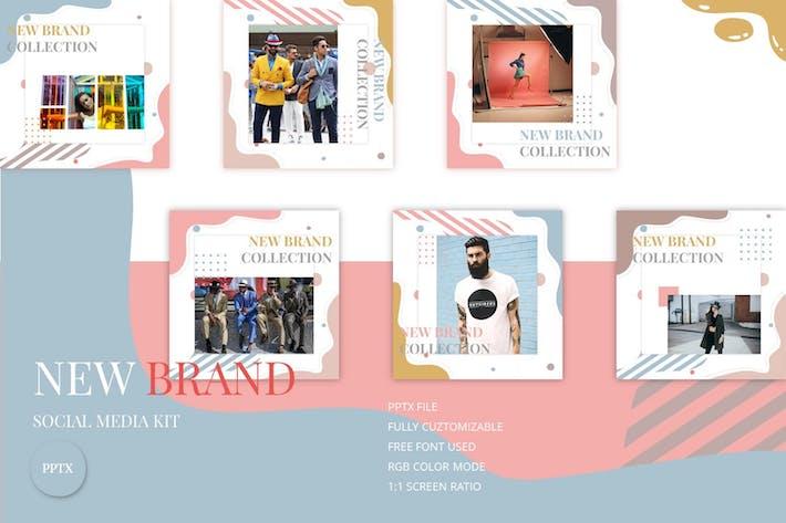 Thumbnail for Новый бренд - Комплект социальных медиа
