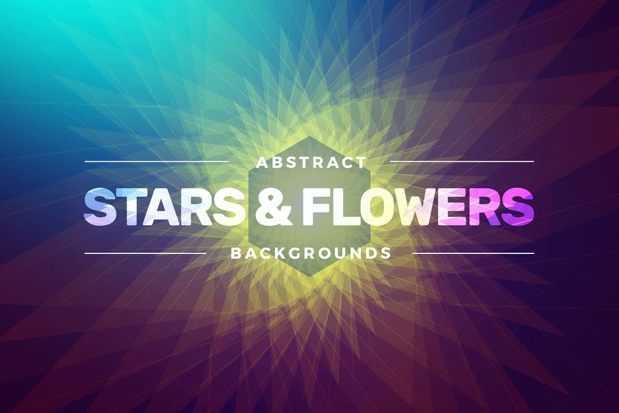 Abstract Stars & Flowers Backgrounds