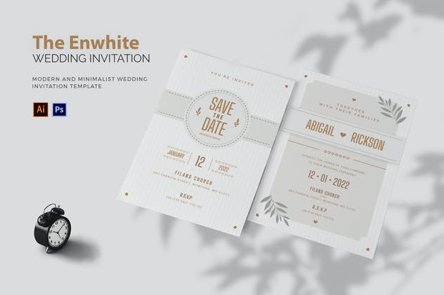 Enwhite - Wedding Invitation