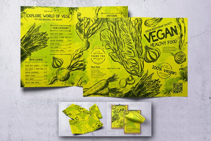 Thumbnail for Vintage Vegan Food Menu Bundle