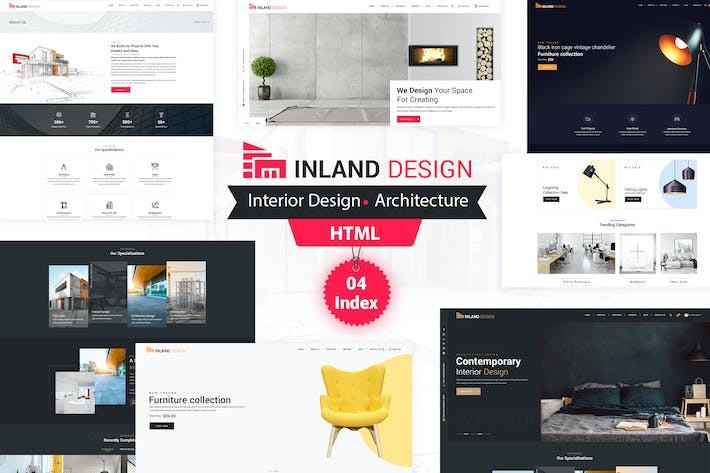 Thumbnail for Inland Design - Responsive HTML Template