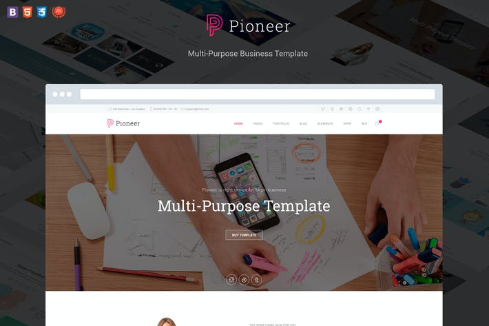 Thumbnail for Pioneer - Multi-Purpose HTML 5 Corporate Template