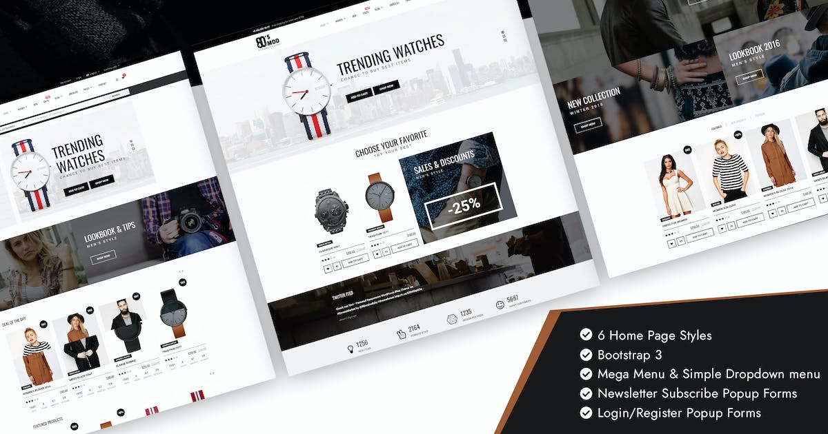 Download 80's Vintage / Retro Styled Ecommerce Template by Jthemes