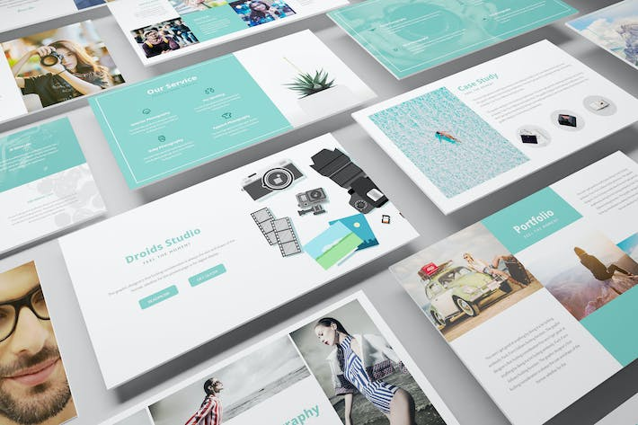 Photography Google Slide Template by Incools on Envato Elements