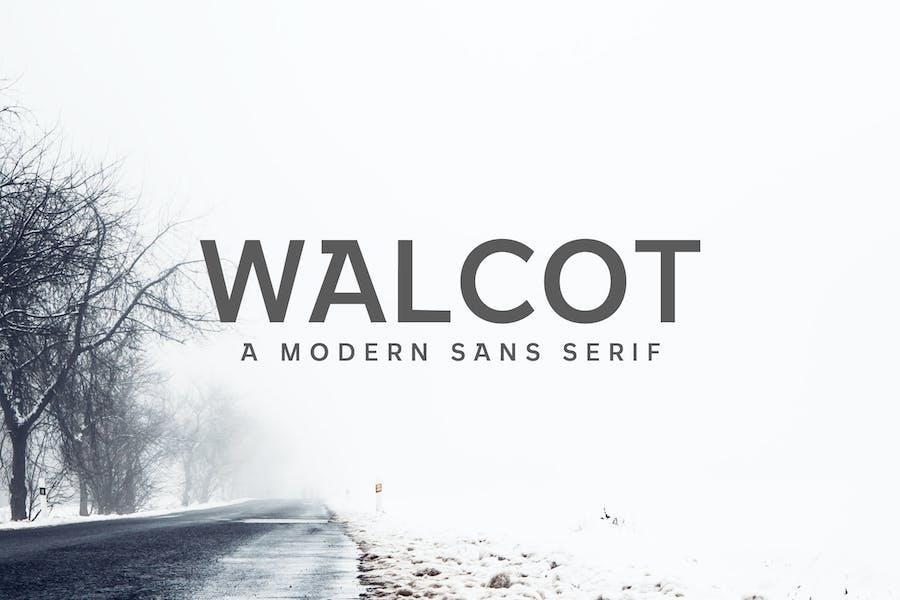 Walcot Moderno Sans Con serifa Font