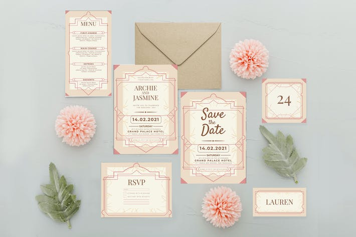 Thumbnail for Decorative Pastel - Wedding Invitation