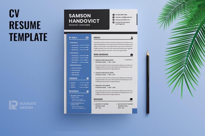 Thumbnail for Minimalist CV  Resume R41 Template