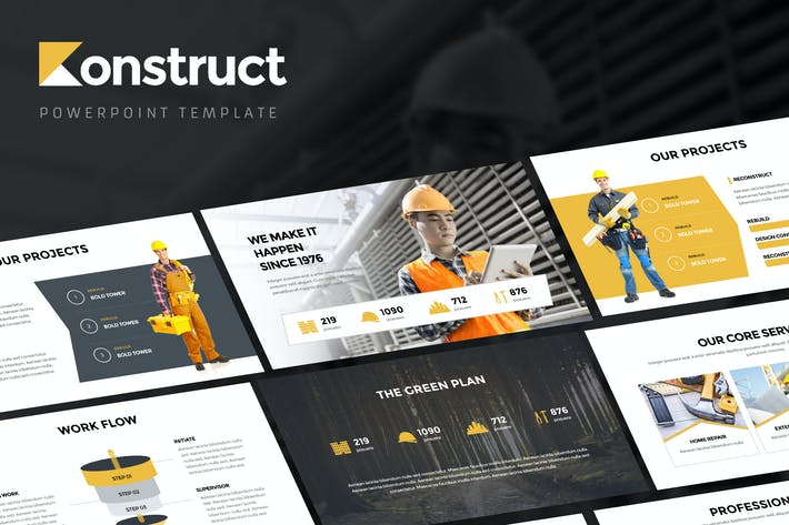 Thumbnail for Konstruct - Powerpoint Template