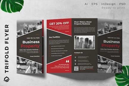 Contractor / Developer Trifold Brochure Flyer