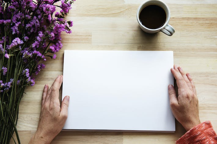 Thumbnail for Blank Paper Mockup on Wooden Table