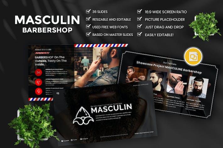 Masculine Barbershop Google slide