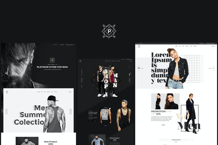 Thumbnail for Platinum - Stylish ecommerce Sketch Template