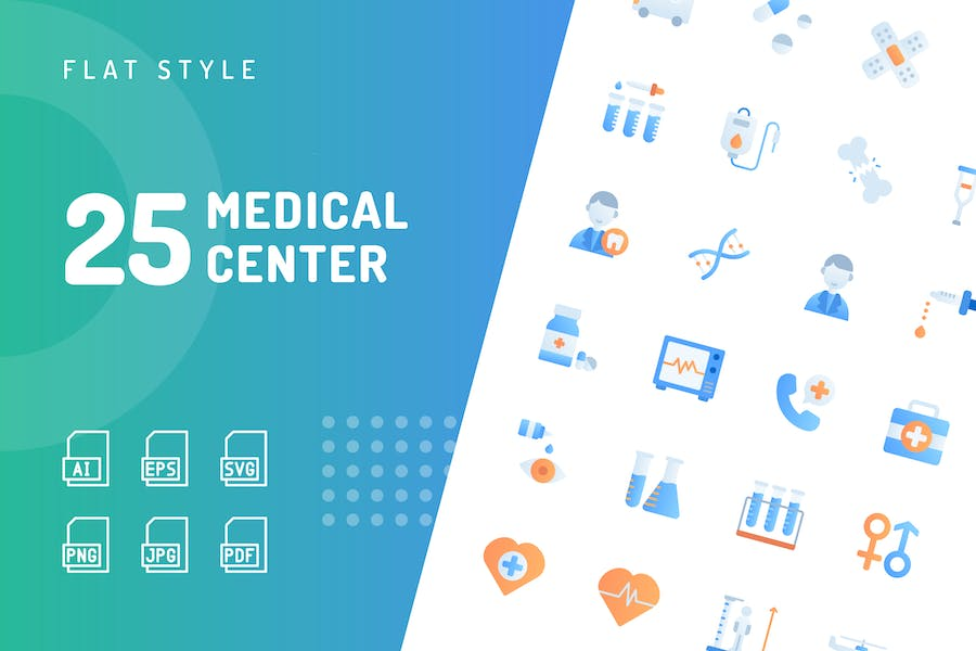 Medical Center Flat Icons