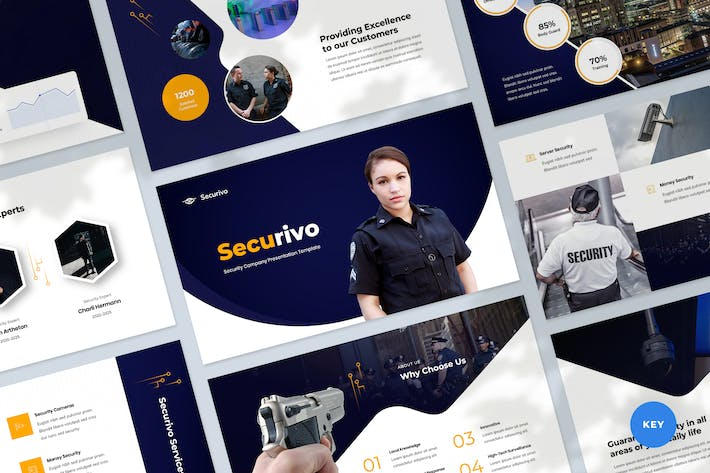 Thumbnail for Security & Safety Company Keynote Template