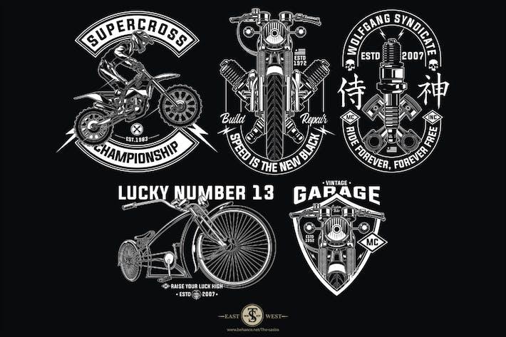 Thumbnail for Biker Design Set 1