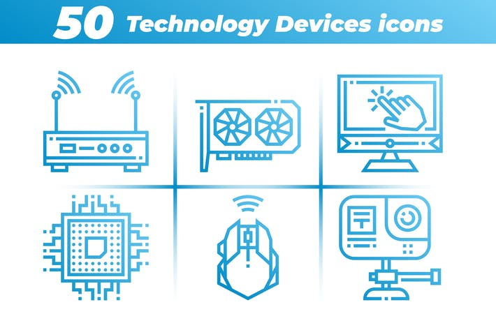 Thumbnail for 50 Technology Devices Icons