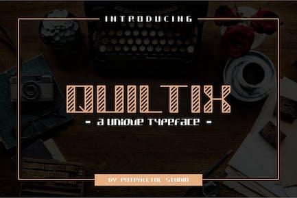 Quiltix - Unique Display Font
