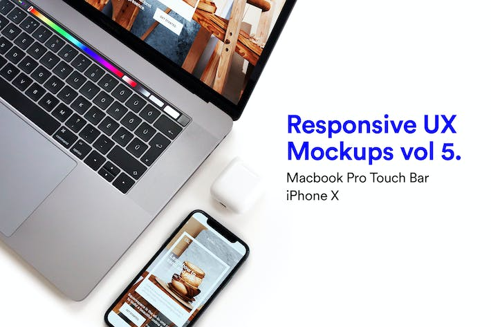Thumbnail for Macbook iPhone Mockups Vol 05
