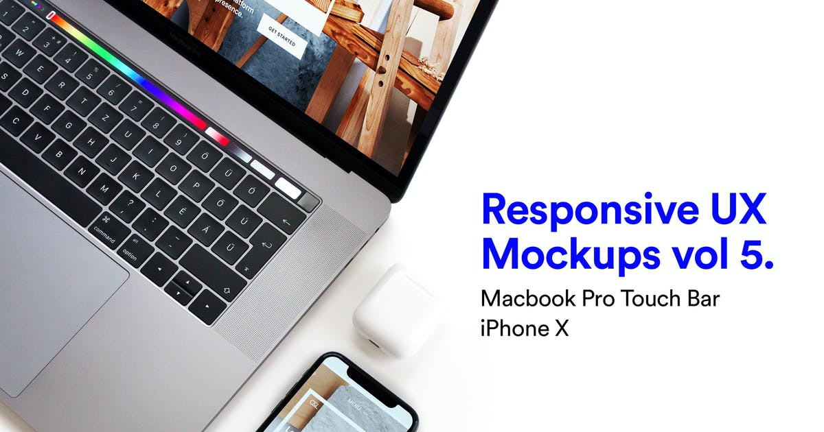 Download Macbook iPhone Mockups Vol 05 by itscroma