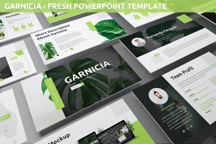 Thumbnail for Garnicia - Свежий Шаблон Powerpoint