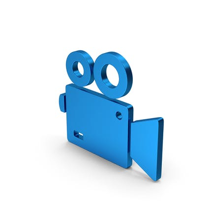 Symbol Video Camera Blue Metallic
