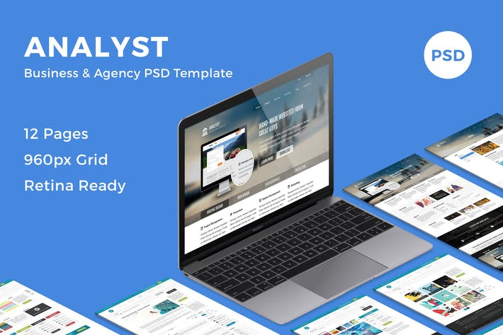 Thumbnail for Analyst - Business & Agency PSD Template