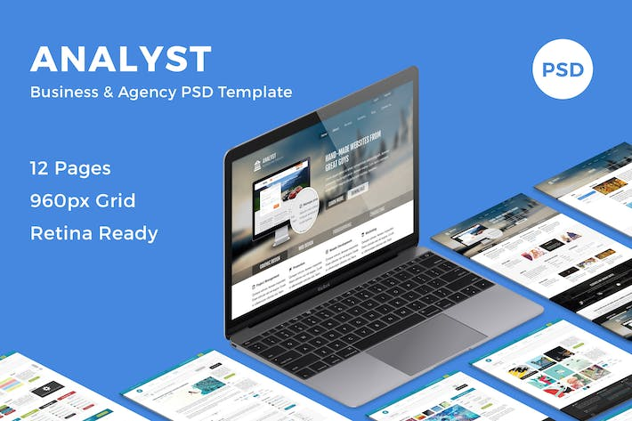 Cover Image For Analyst - Business & Agency PSD Template