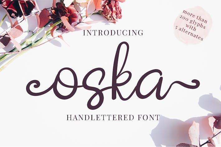 Thumbnail for Oska - Script Font