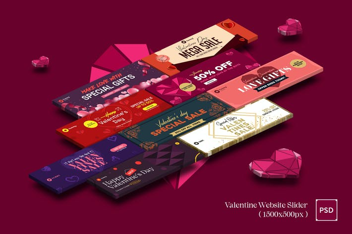 Valentines Day Website Slider