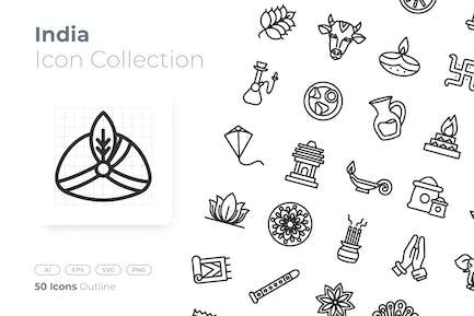 India Outline Icon