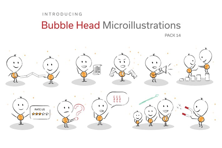 Thumbnail for Bubble Head Micro Illustrations -  Leadership Pack