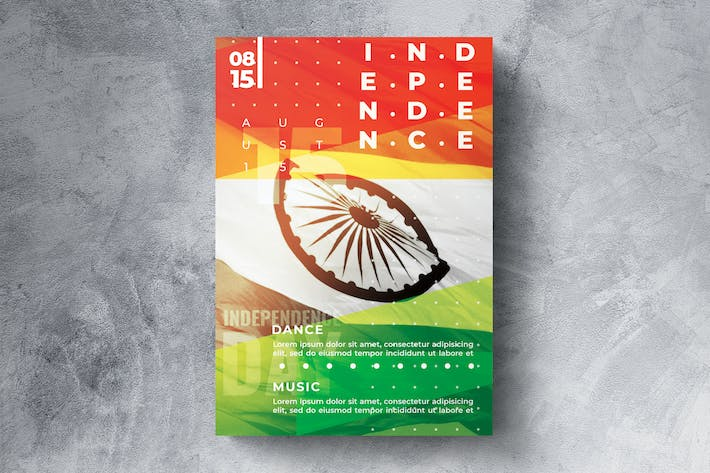 Thumbnail for Indian independence day flyer template