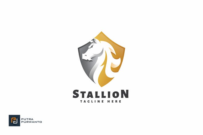 Cover Image For Stallion - Logo Template