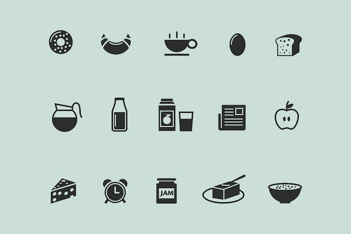 Cover Image For 15 Breakfast Icons