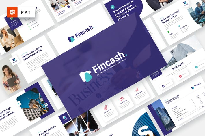 Thumbnail for FINCASH - Finance & Consulting Powerpoint Template