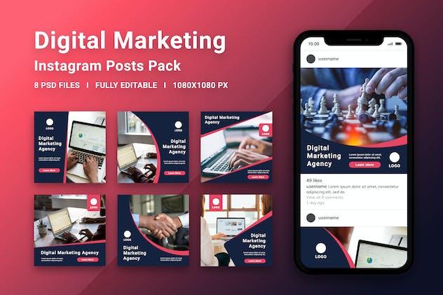 Digital Marketing Instagram Posts Pack