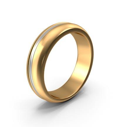 Золотое кольцо с белой полосой