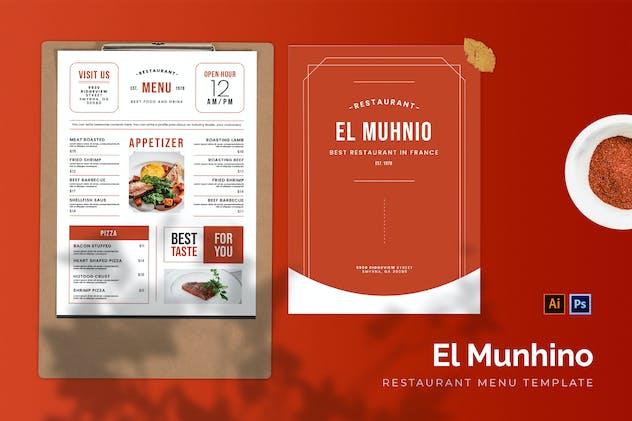 El Muhnio - Restaurant Menu