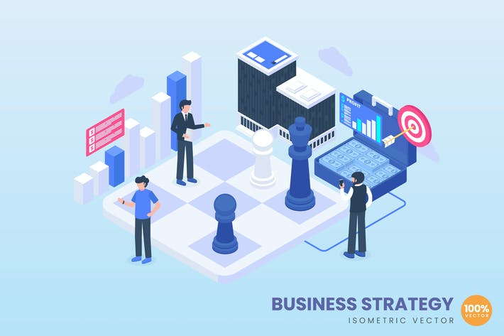 Business Strategy Concept Illustration