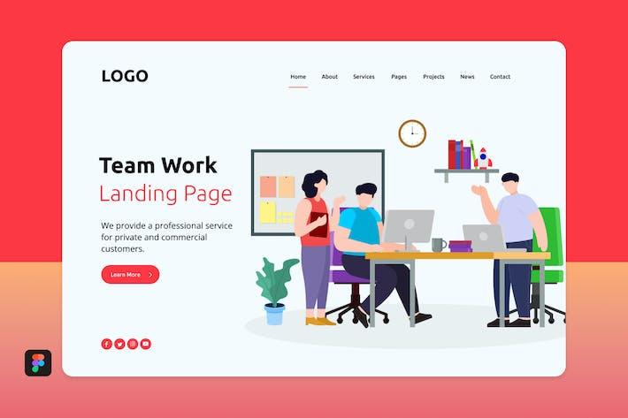 Thumbnail for Tewor - Team Work Landing Page 2