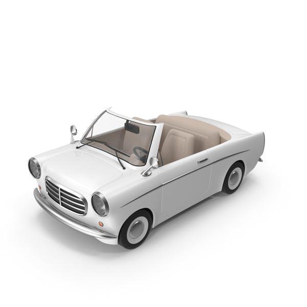Cartoon Car White
