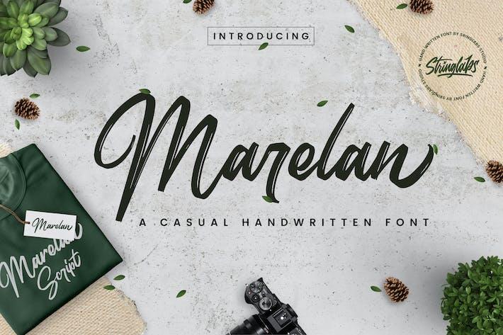 Thumbnail for Marelan - Fuente manuscrita casual