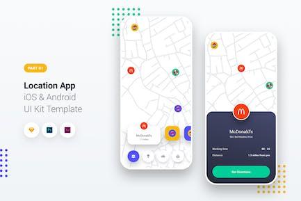 Location App iOS & Android UI Kit Template 1